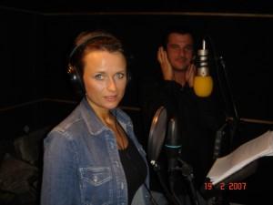 Recording a song with Davide Mattioli